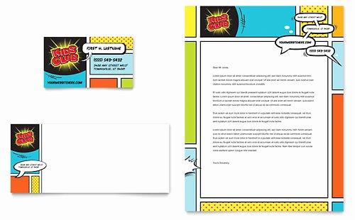 Kids Club Rack Card Template Design