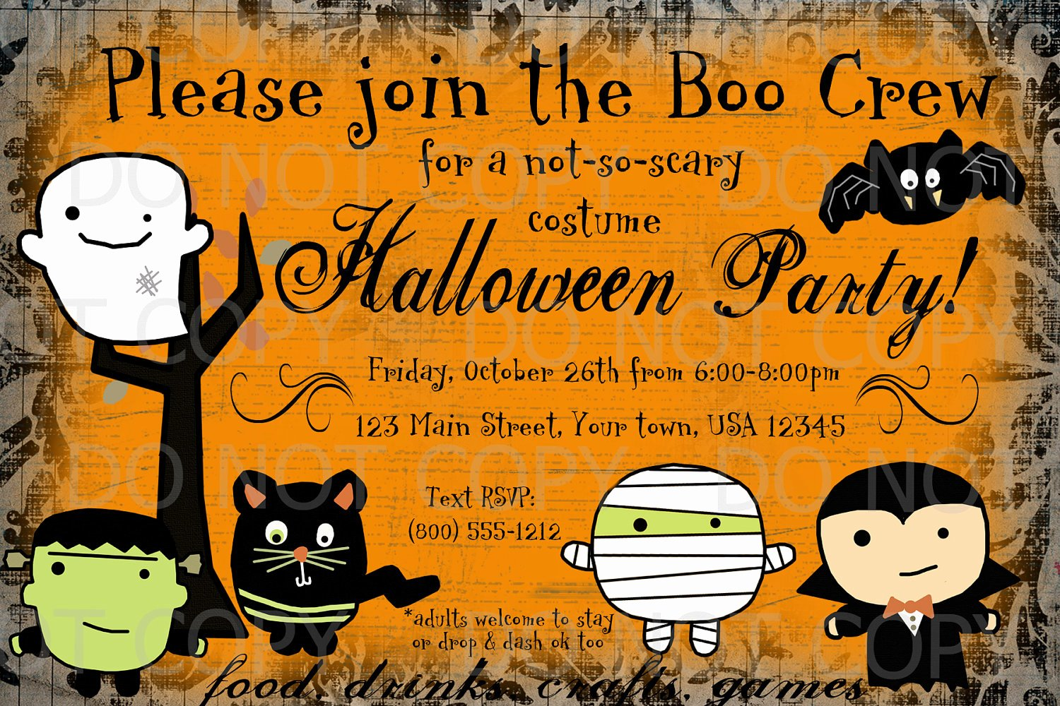 Kids Halloween Invitations Printable – Festival Collections