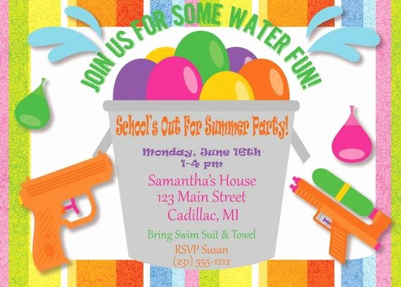 Kids Party Invitation Kids Summer Party Invitation Kids