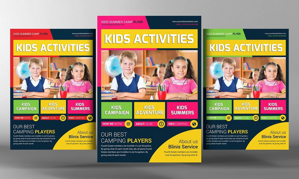 Kids School Education Flyer Template Flyer Templates