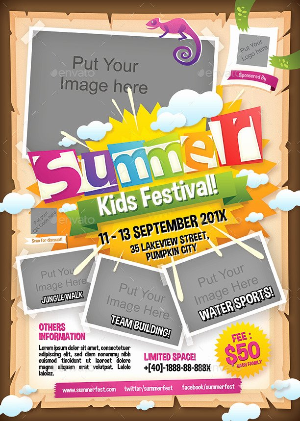 Kids Summer Camp Flyer by Shamcanggih