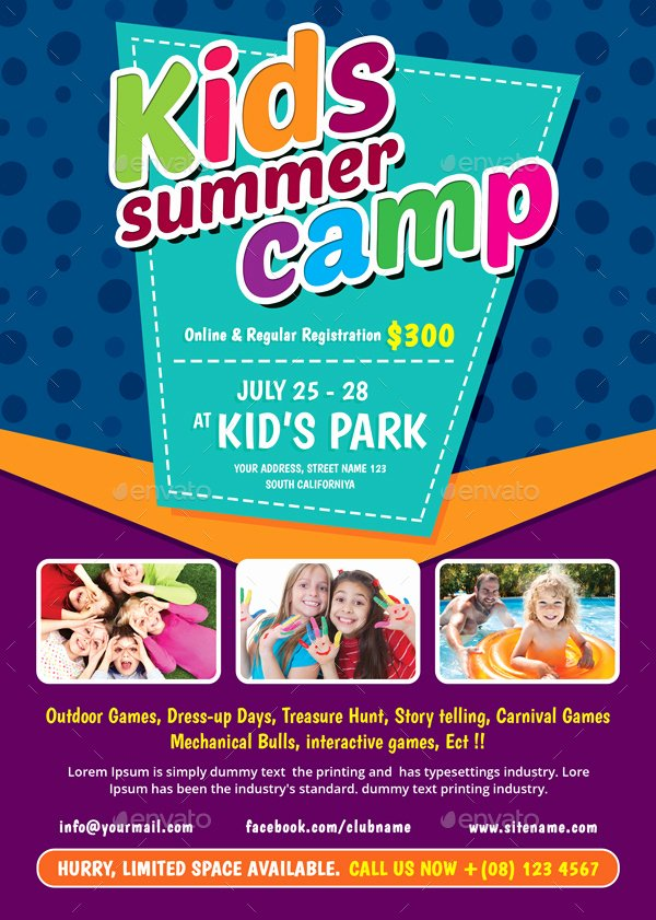 Kids Summer Camp Flyer by themedevisers
