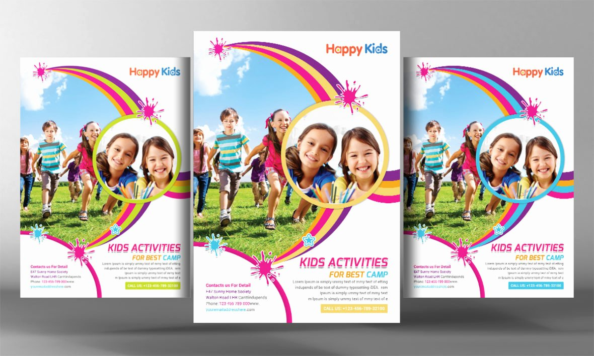Kids Summer Camp Flyers Psd Template