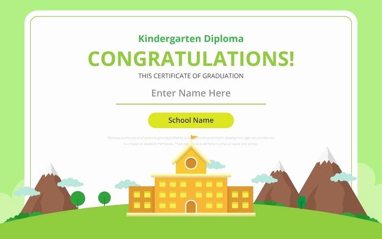 Kindergarten Diploma Certificate Template Download Free