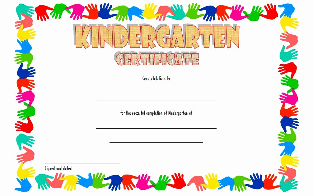 Kindergarten Graduation Certificate Template 5 – Best 10