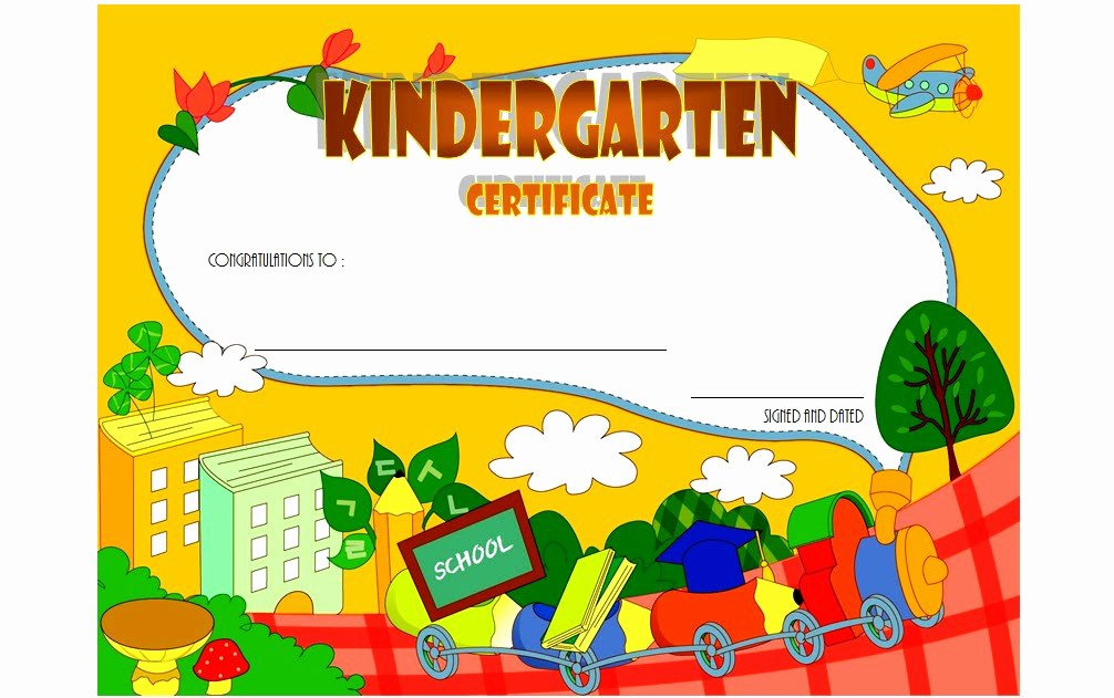 kindergarten graduation certificate template 6