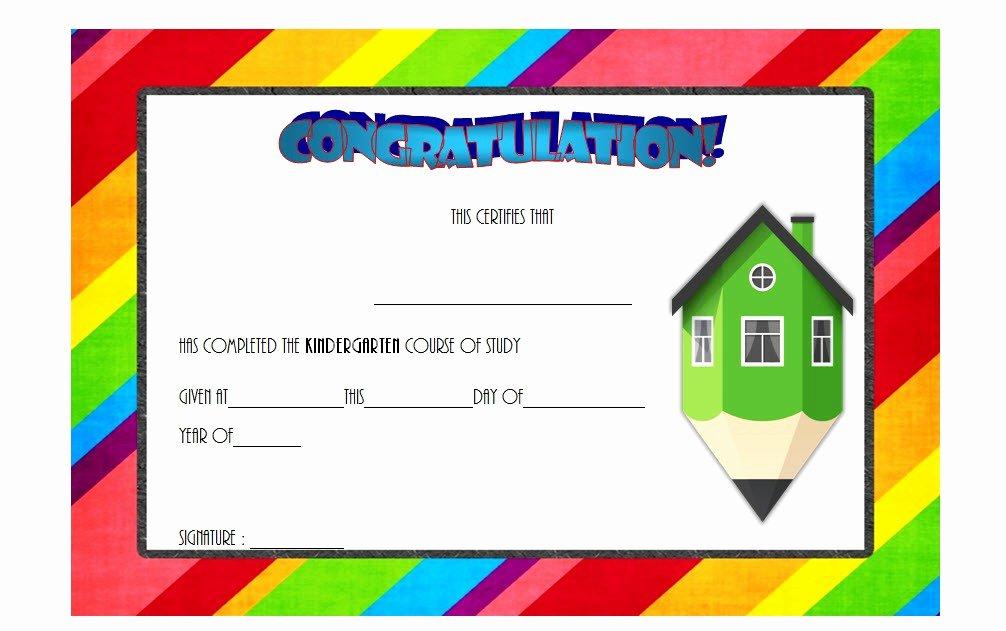 Kindergarten Graduation Certificate Template 8 – Best 10