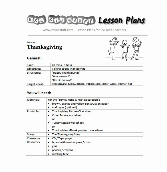 Kindergarten Lesson Plan Template 3 Free Word Documents
