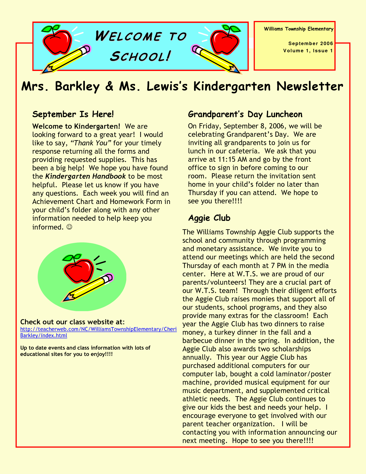 Kindergarten Newsletter Templates Free