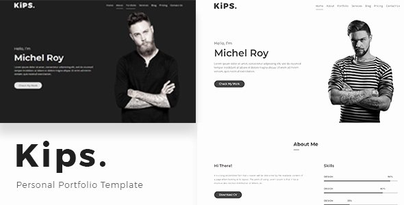 Kips – Personal Portfolio Template – Download Nulled themes
