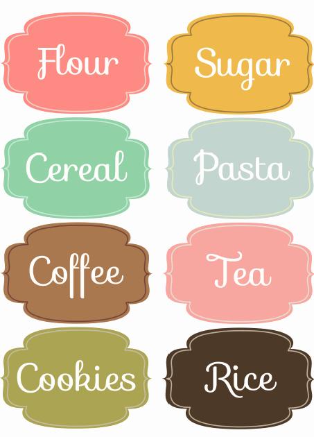 Kitchen Pantry organizing Labels