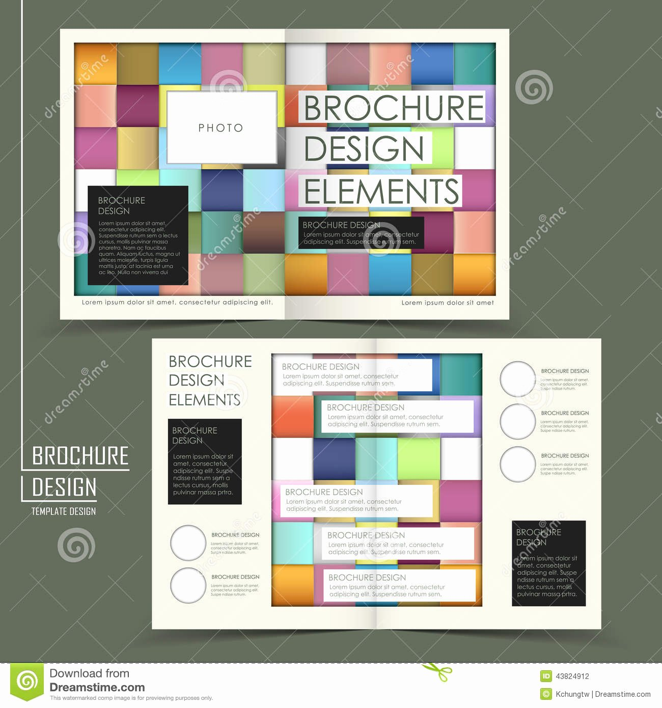 Knitted Style Half Fold Template Brochure for Business
