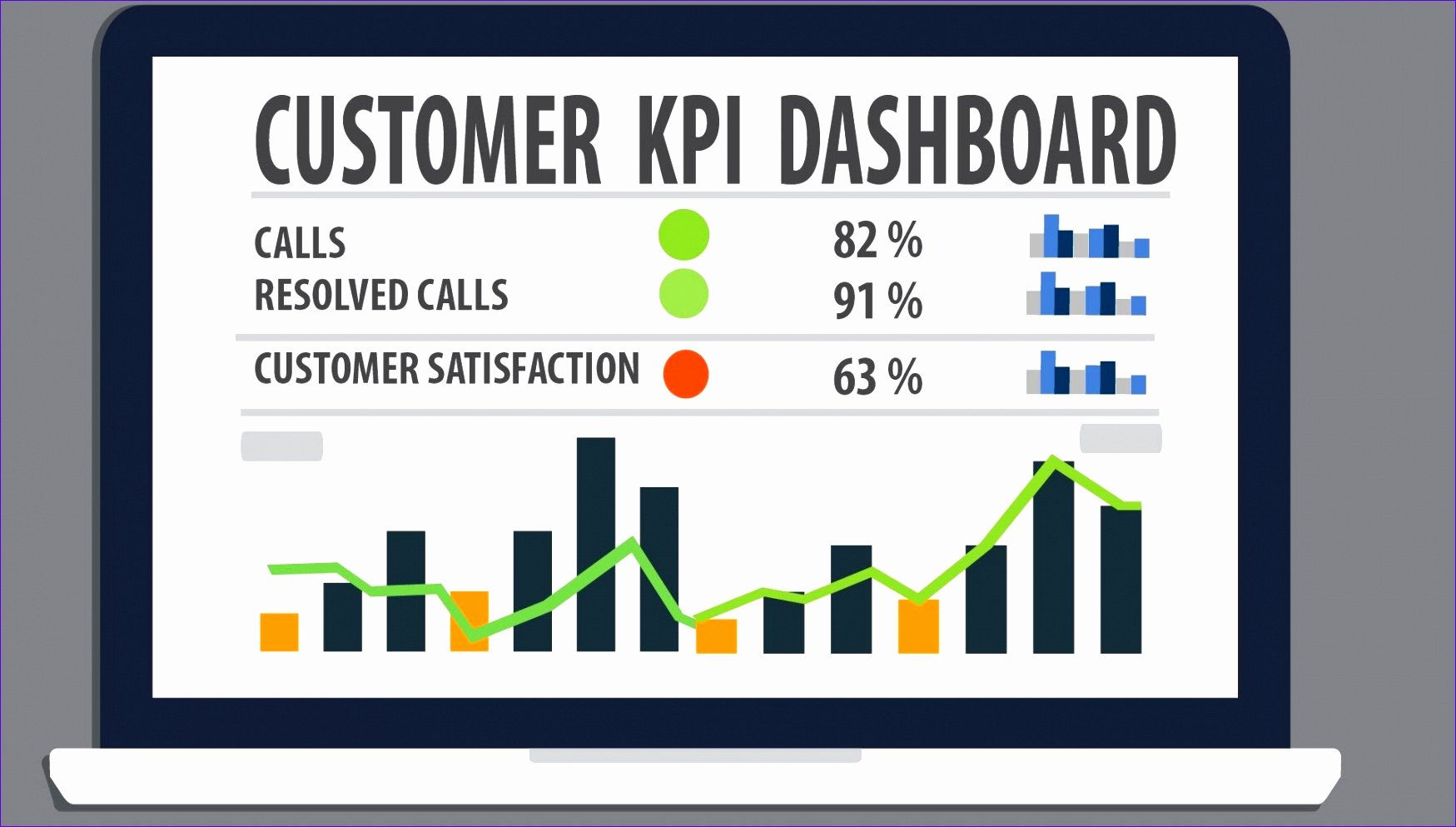 Kpi Dashboard Excel Template Free Download Kwoke Best