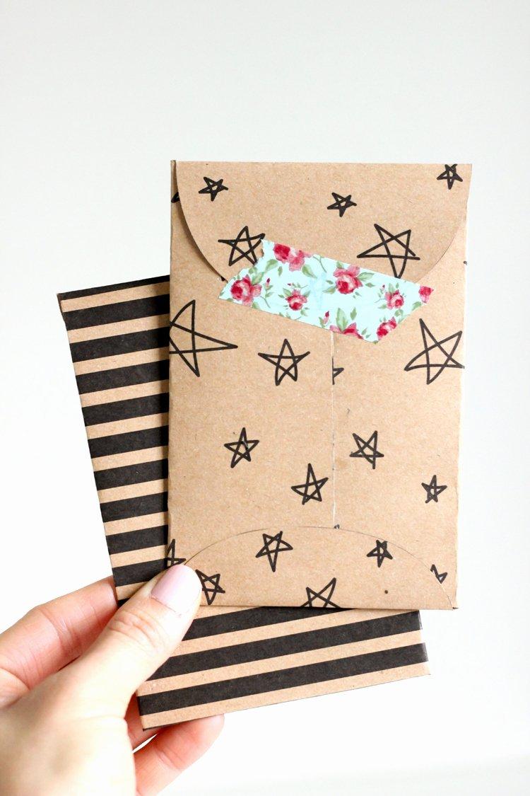 Kraft Paper Gift Card Envelope – Free Printable