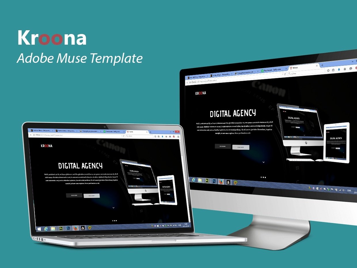 Kroona Adobe Muse Template