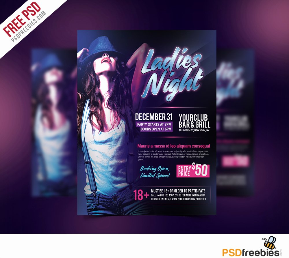 La S Night Party Flyer Free Psd Template Download
