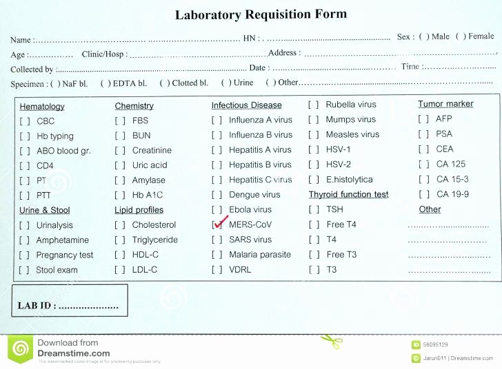 Lab Requisition form Template – Updrill