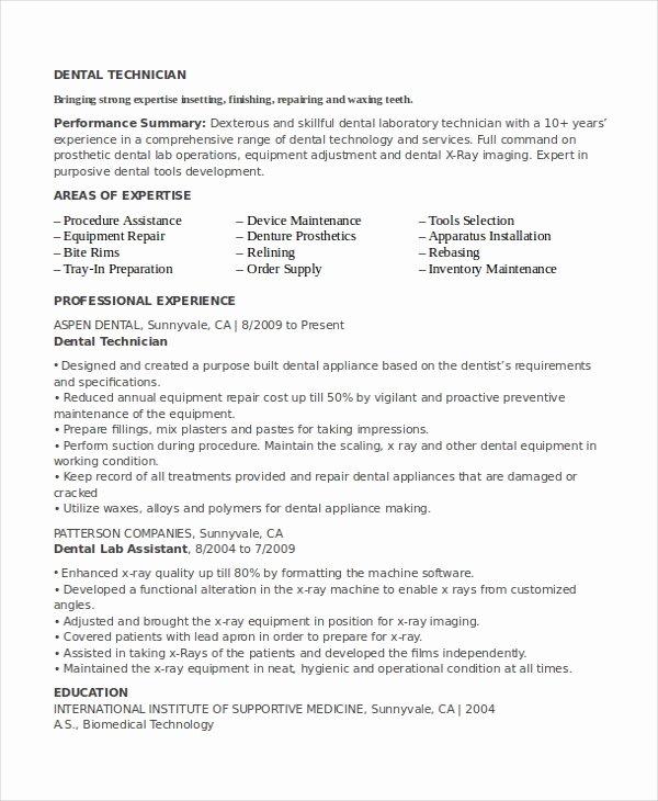Lab Technician Resume Template 7 Free Word Pdf