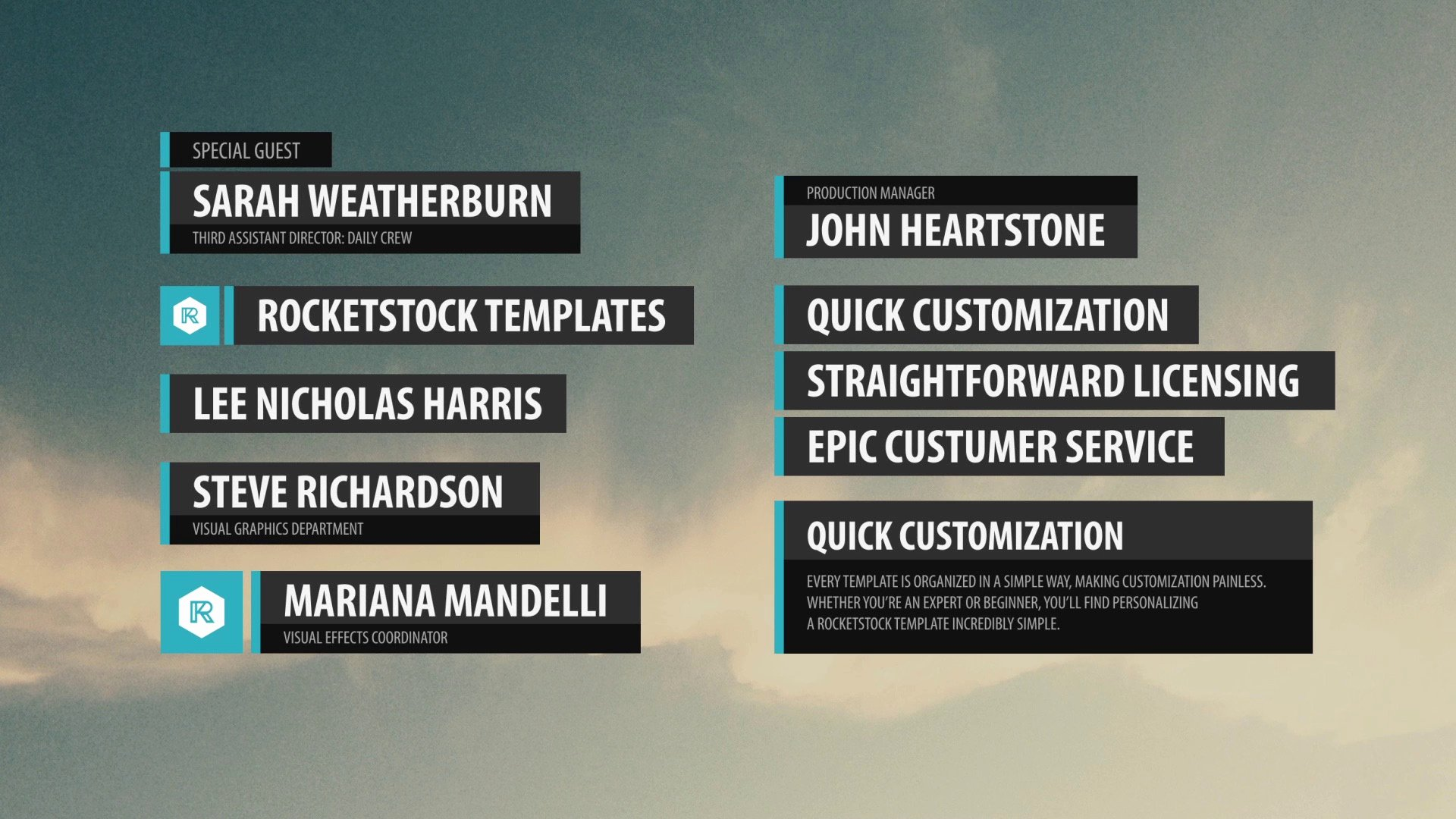 Label Fresh Lower Thirds Pack after Effects Template