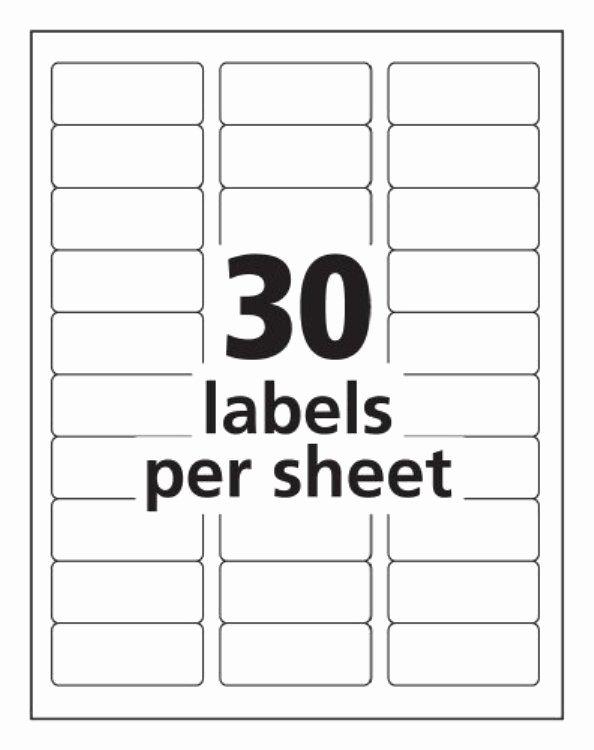 Label Templates 30 Per Sheet Invitation Template