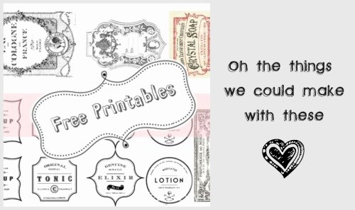Label Templates Free Download Vintage