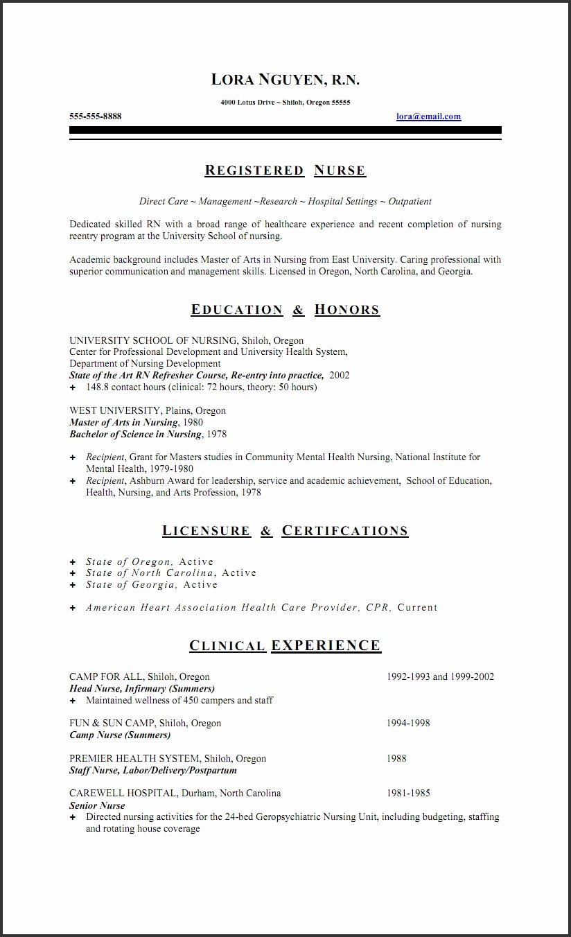 Labor and Delivery Nurse Resume Sample Annecarolynbird