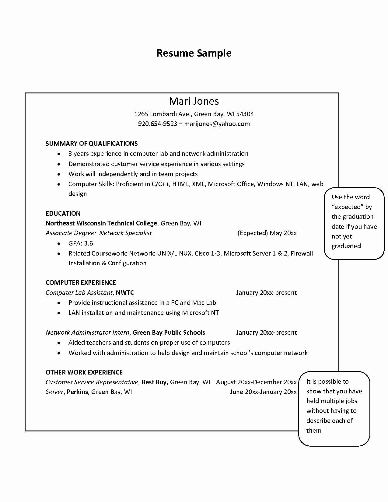 laboratory technician resume