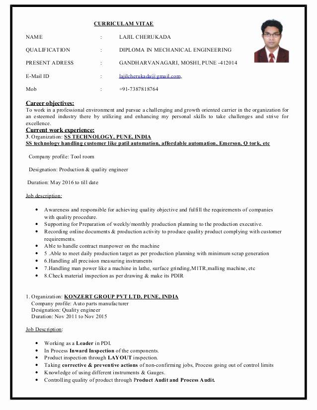 Lajil Cherukada Resume 4 Years Experience In Quality