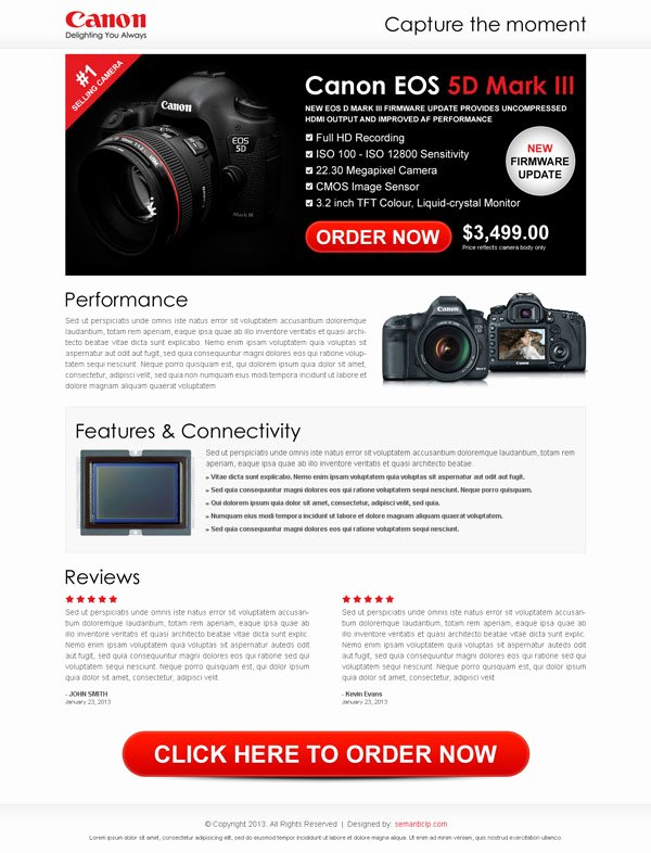 Landing Page Design Example for Online Digital Product and