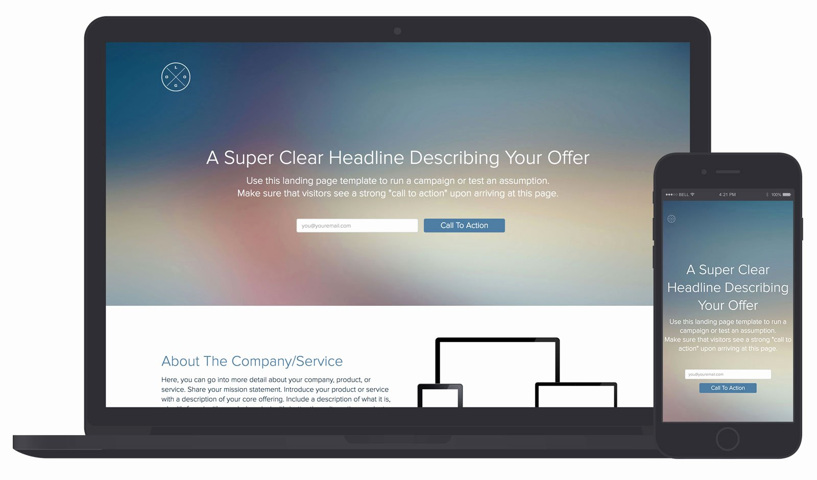 Landing Page Template and Examples