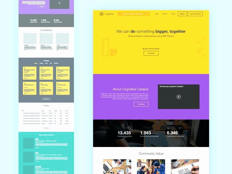 Landing Page Template Bootstrap Splash Website Sketch