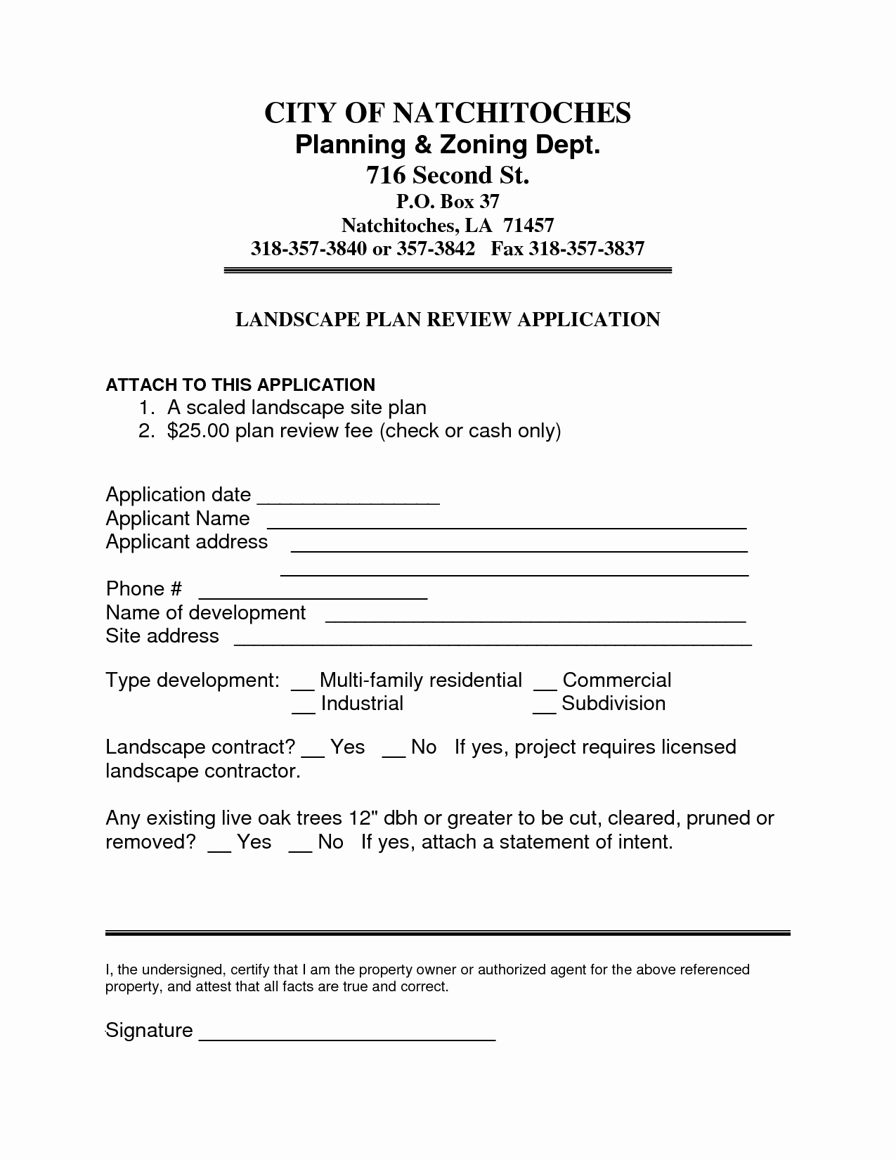 Landscape Contract Template Latter Example