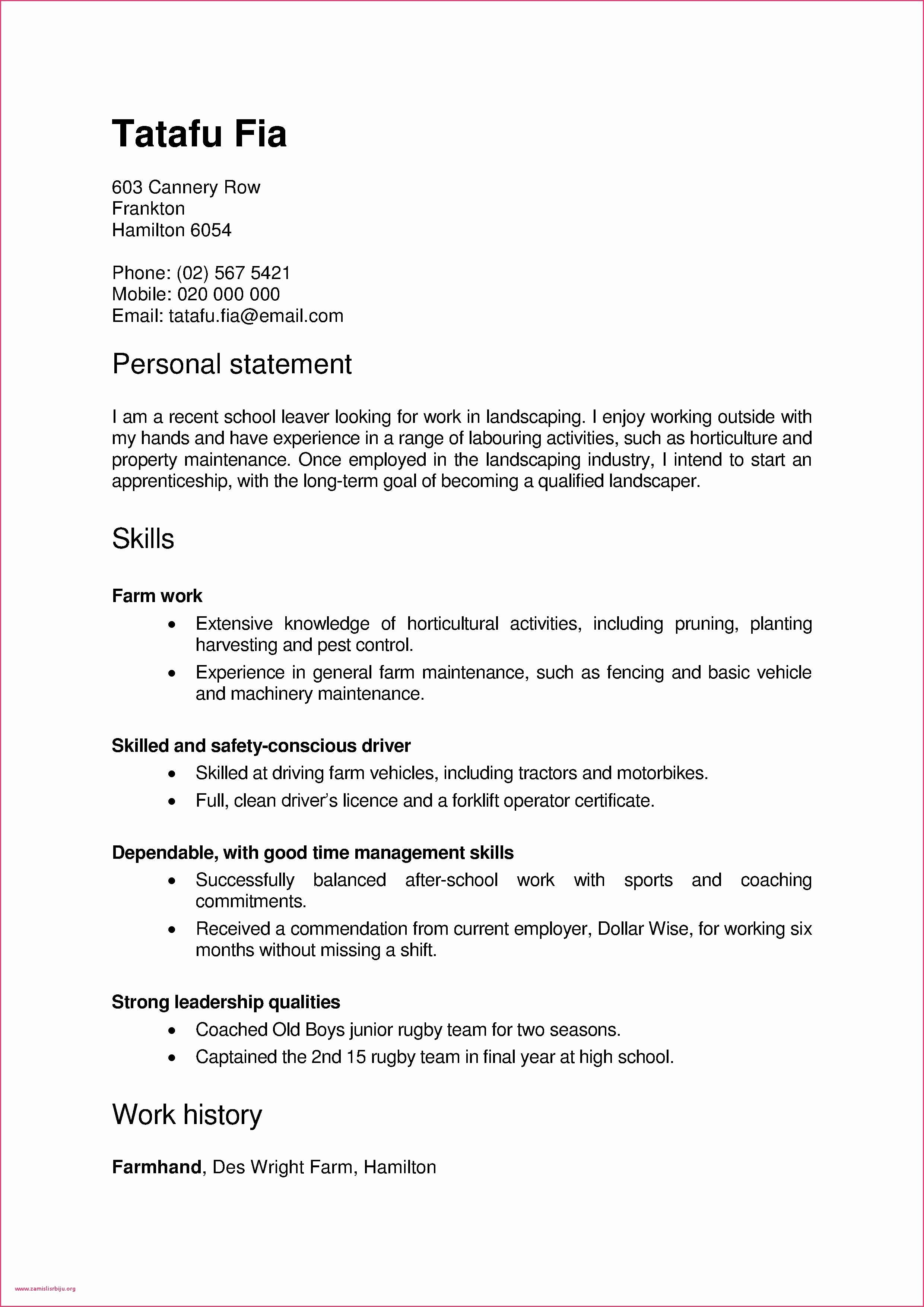 Landscaper Resume Resume Summary Generator Lovely Fresh Pr