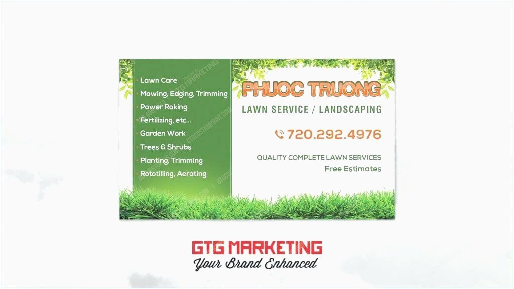 Landscaping Business Cards Model Lawn Care Cards Manqal