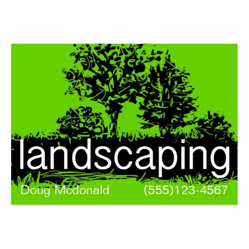 Landscaping Business Service Card Template Business Card
