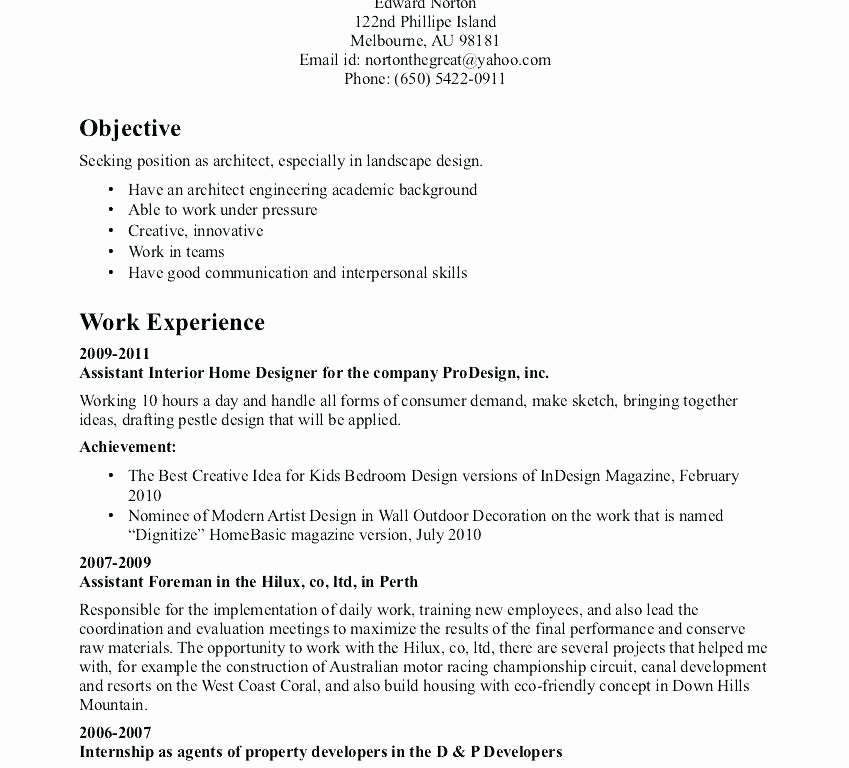 Landscaping Resume Examples Skills Download for Page