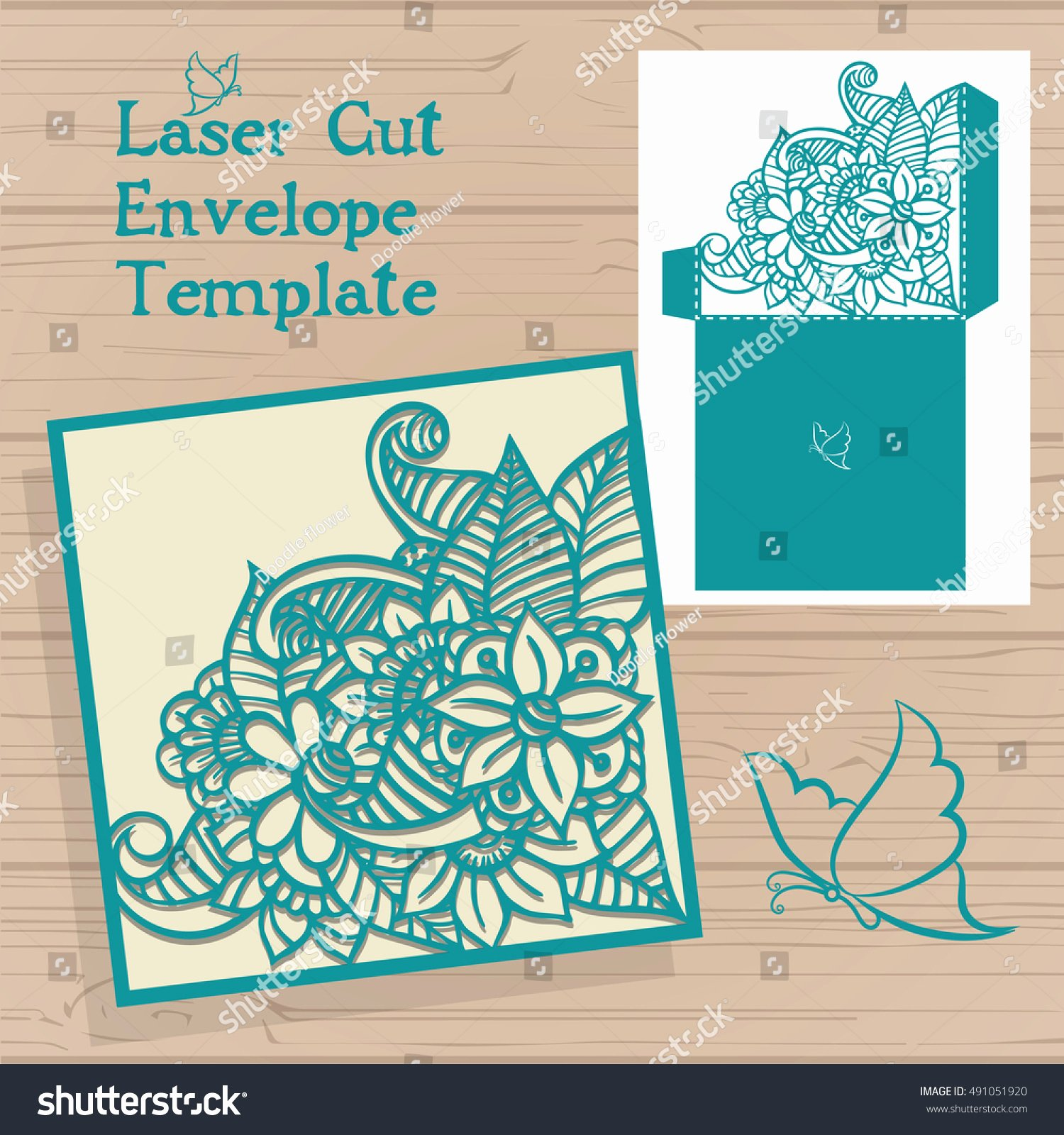 Lasercut Vector Wedding Invitation Template Wedding