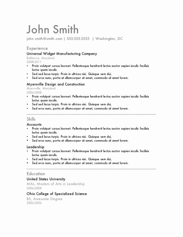 Latest Free Resume Template Microsoft