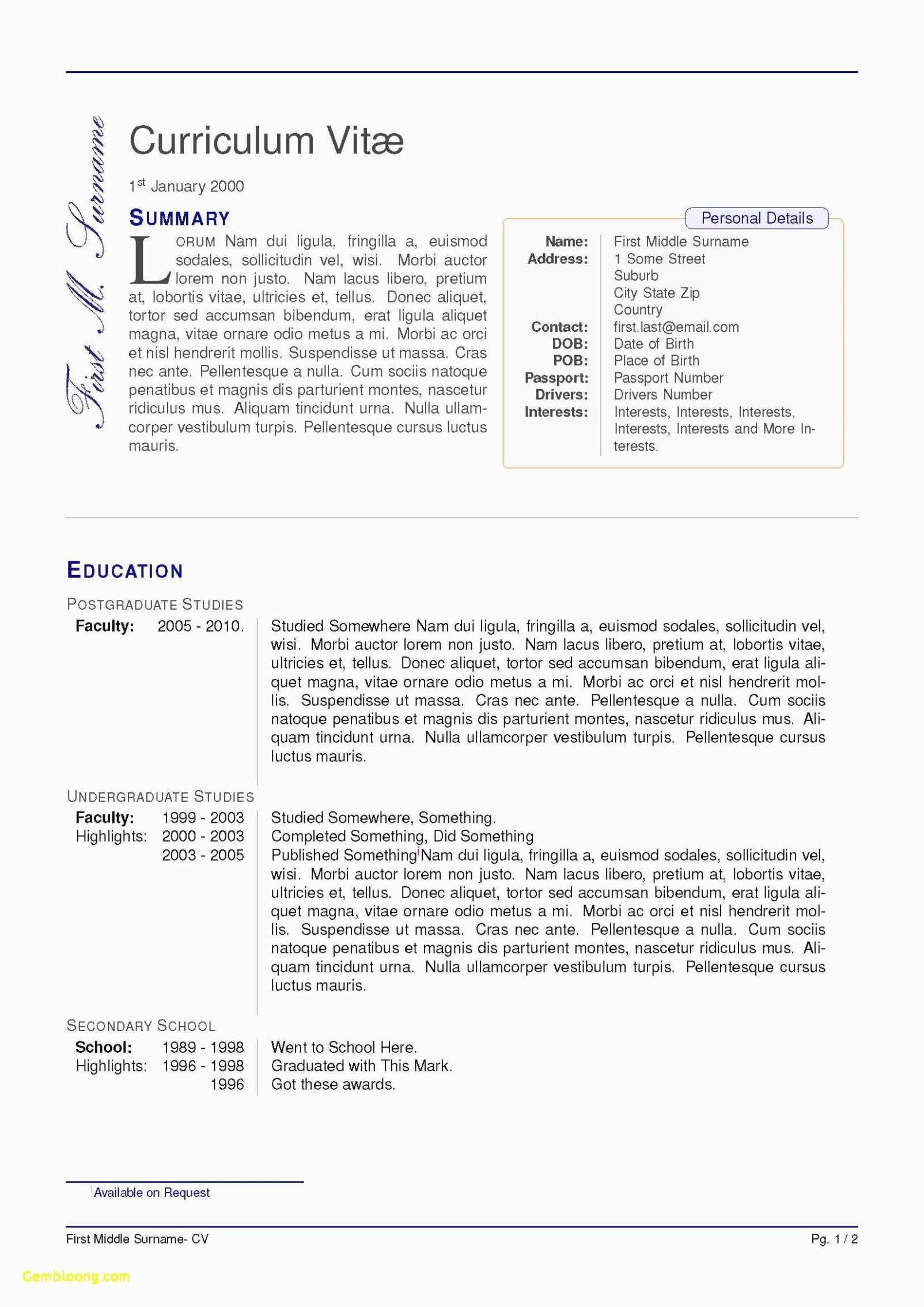 Latex Cv Template software Engineer Things that Make You