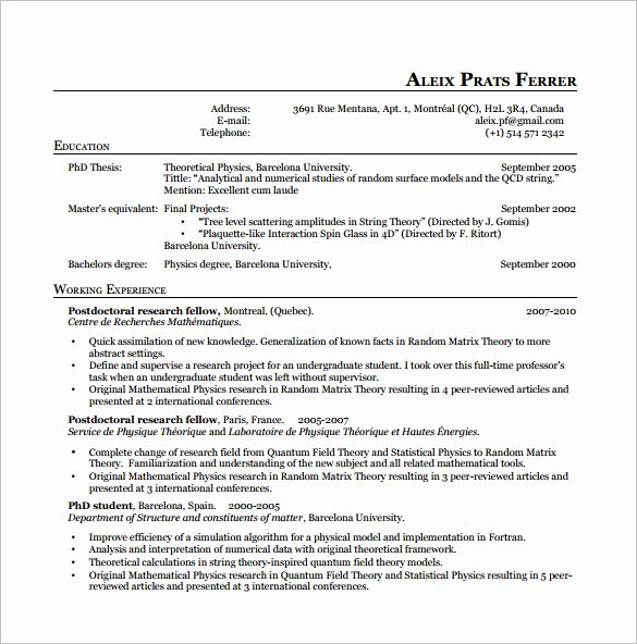 Latex Resume Template 7 Free Word Excel Pdf Free