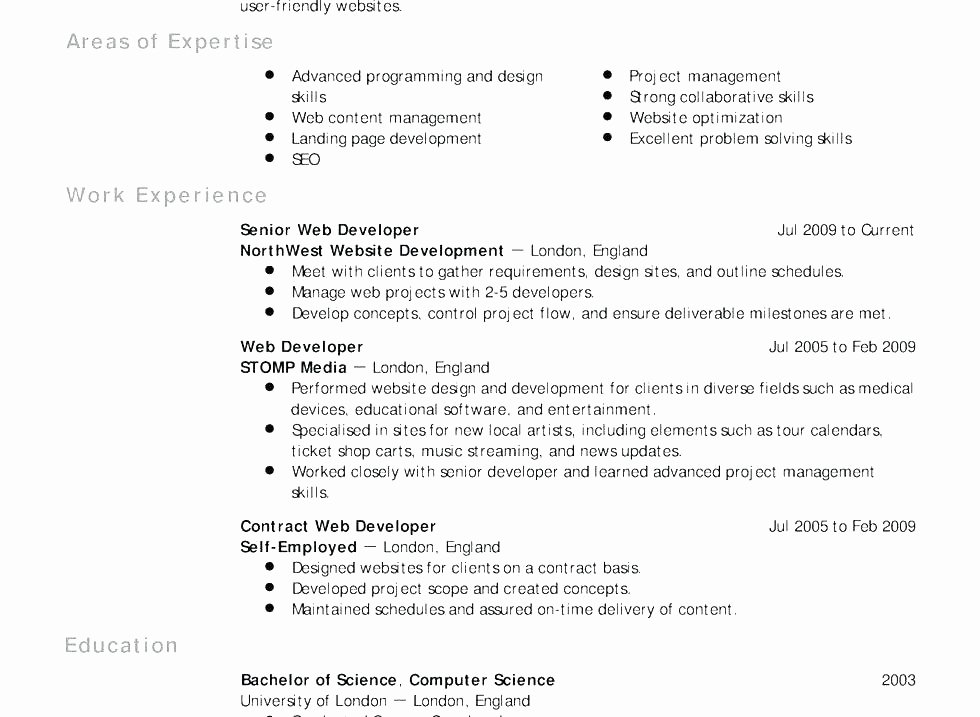 Latex Resume Template Puter Science