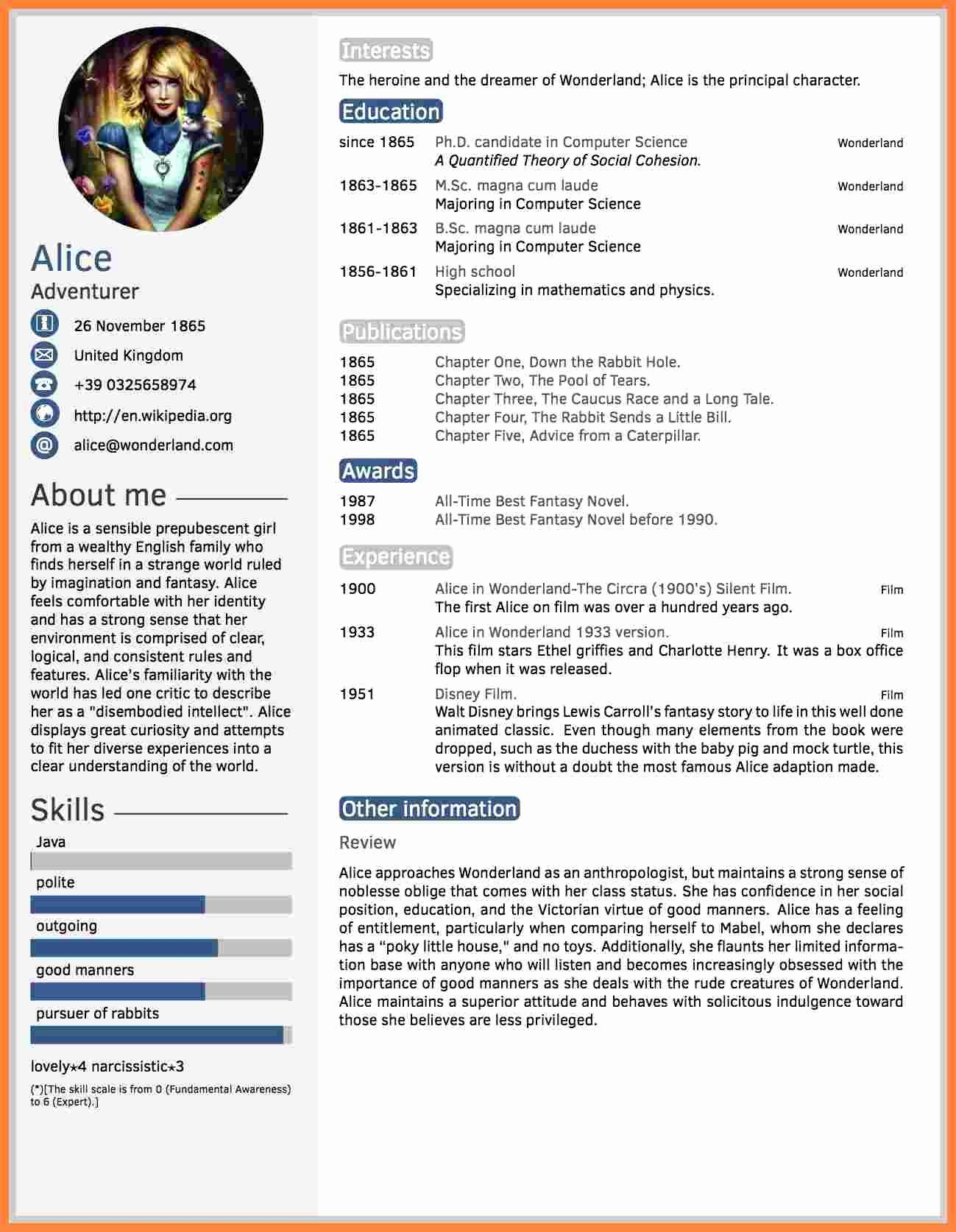 Latex Resume Template software Engineer 4868