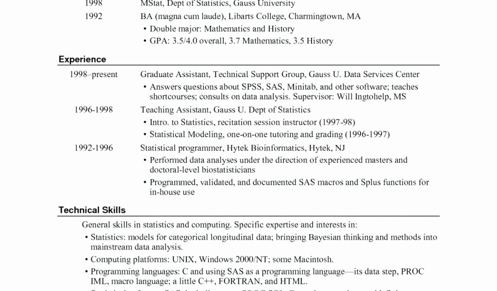 Latex Resume Template software Engineer Cv Overleaf