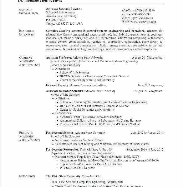 Latex Template Resume Ohio State Latex Cv Template