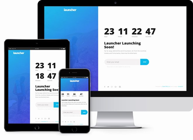 Launcher Simple Ing soon HTML5 Bootstrap Template
