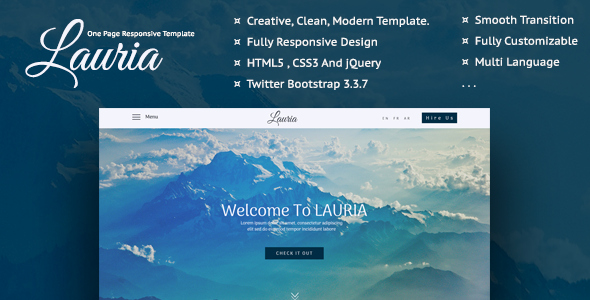 Lauria E Page Responsive Template Nulled Download
