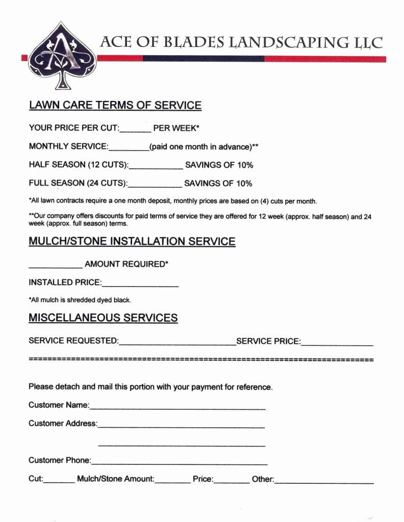 Lawn Care Bid Proposal Template Free