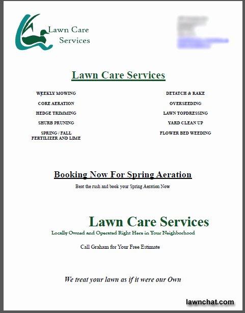 Lawn Care Bid Templates