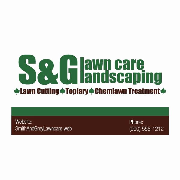 Lawn Care Business Cards Five Customizable Templates