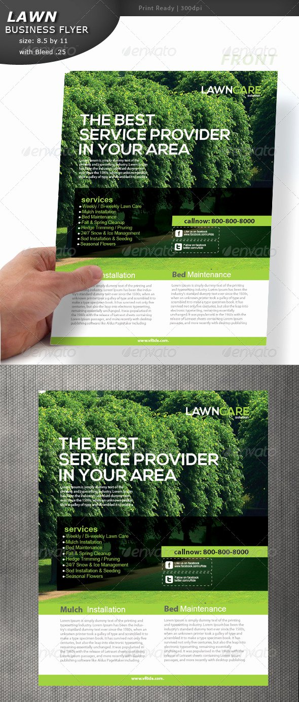 Lawn Care Flyer by Designcrew